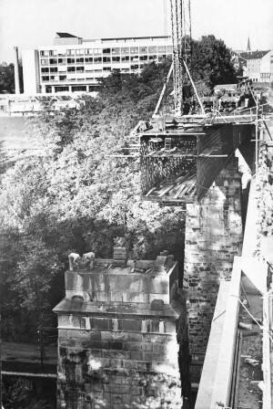 Abbruch alte Eisenbahnbrücke