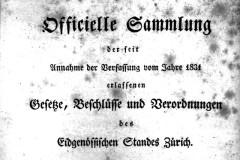 Zürcher Gesetzessammlung seit 1803