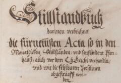 Zürcher Stillstandsprotokolle des 17. Jahrhunderts