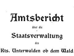 Geschäftsbericht des Regierungsrates (Amtsbericht) ab 1868
